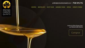 Imagen de la portada de la web de aceites de oliva Encinas de Montquinto