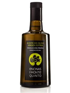 Aceite de oliva virgen extra botella de cristal
